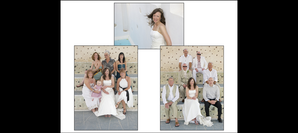 4 weddings, montage, santorini,